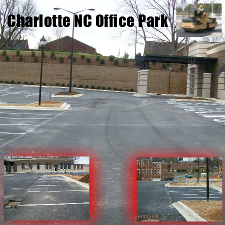 asphalt paving charlotte nc parking lot